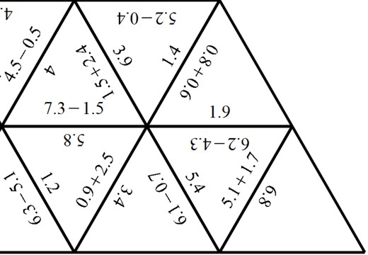 1 Digit Decimals - Adding & Subtracting - Tarsia