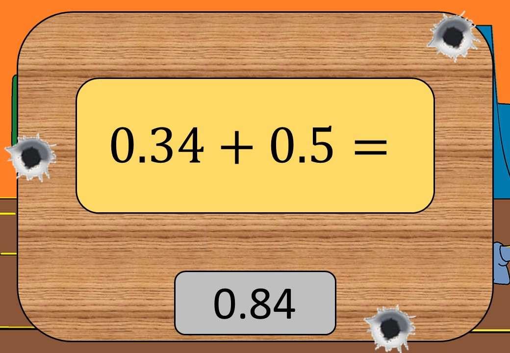 2 Digit Decimals - Adding & Subtracting - Shootout
