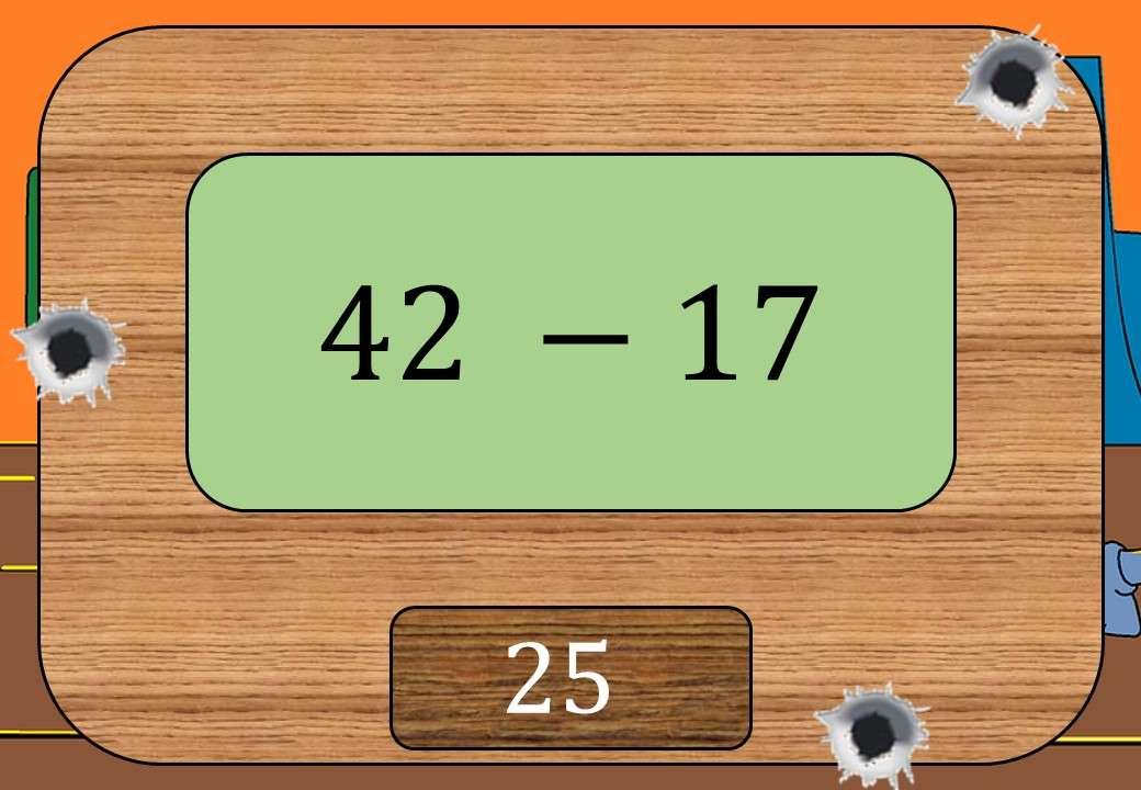 2 Digit Integers - Subtracting - Shootout
