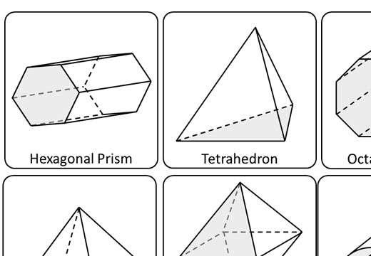 3D Shape - Vocabulary - Card Match