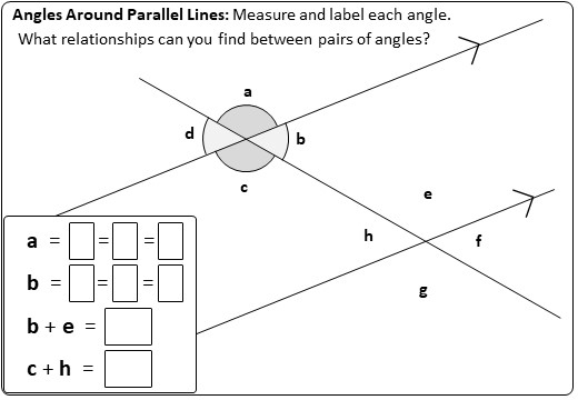 Angles - Parallel Lines - Worksheet B