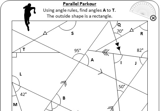 Angles - Parallel Lines - Worksheet C