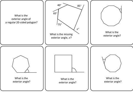 Angles - Regular Polygons - Card Match