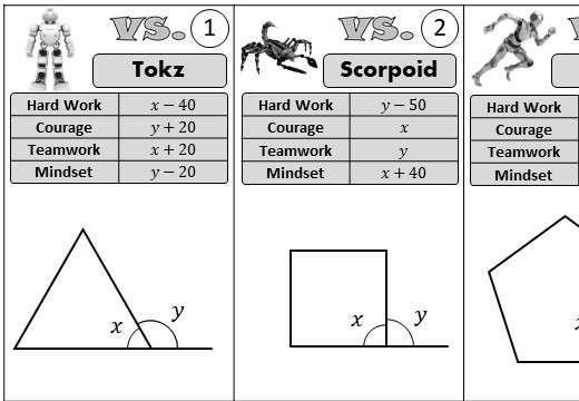 Angles - Regular Polygons - Versus