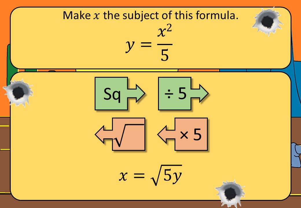 Changing the Subject of a Formula - Function Machines - Shootout
