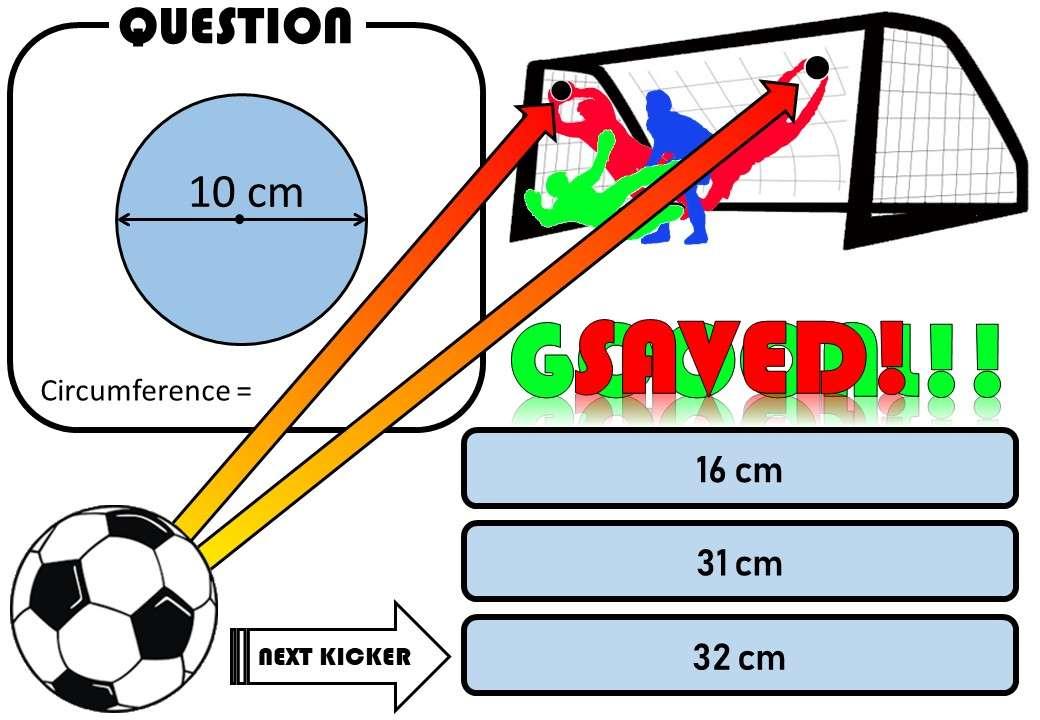 Circle - Area & Circumference - Penalty Shootout