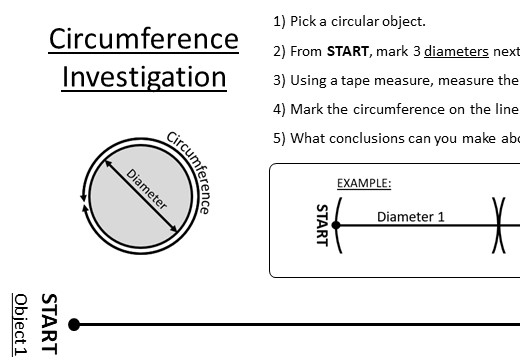 Circle - Circumference & Perimeter - Worksheet A