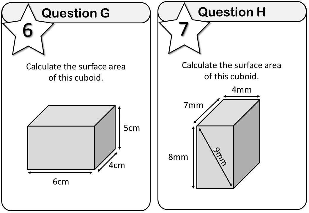 Cuboid - Volume & Surface Area - Messenger