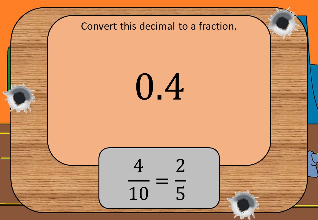 Decimals to Fractions - Shootout
