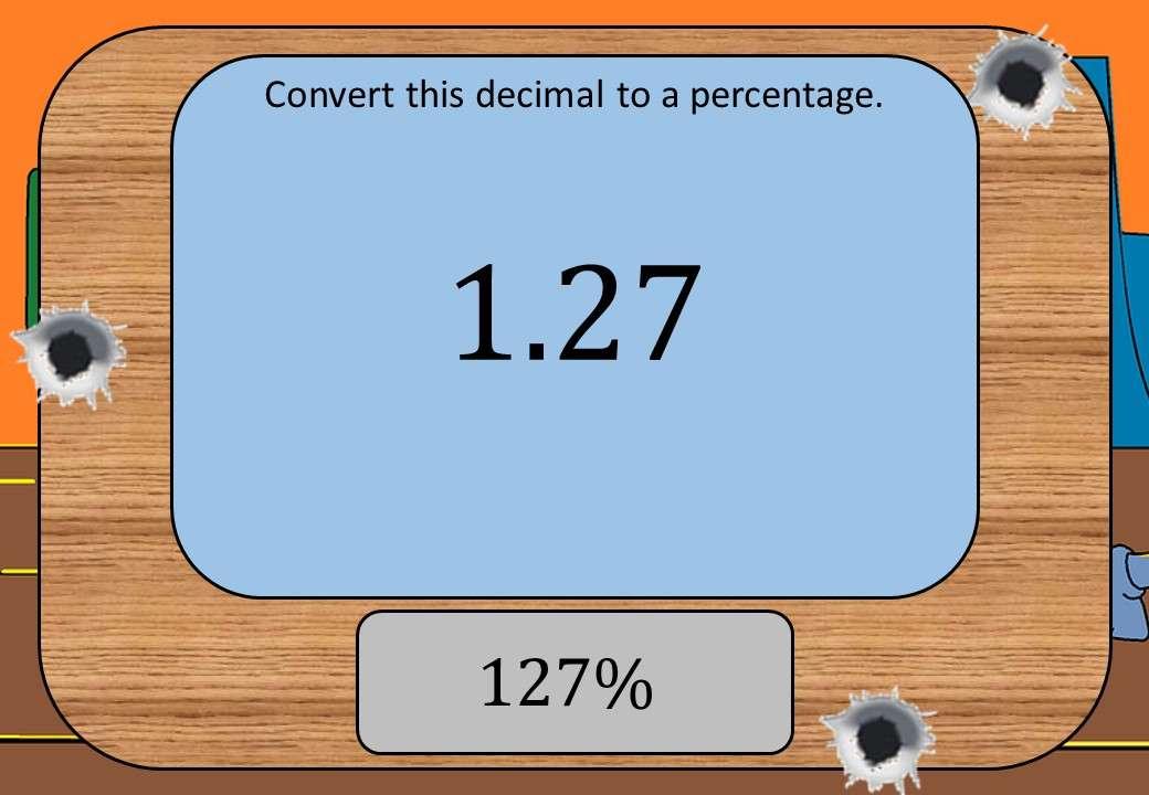 Decimals to Percentages - Shootout