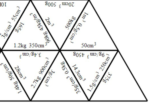 Density, Mass & Volume - Tarsia