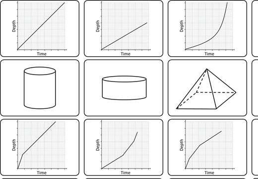 Depth-Time Graphs - Reading - Card Match
