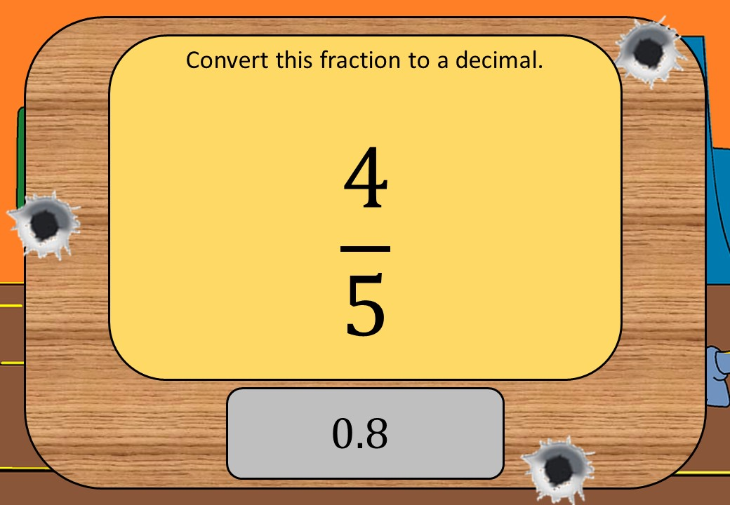 Equivalence - Fractions, Decimals & Percentages - Shootout