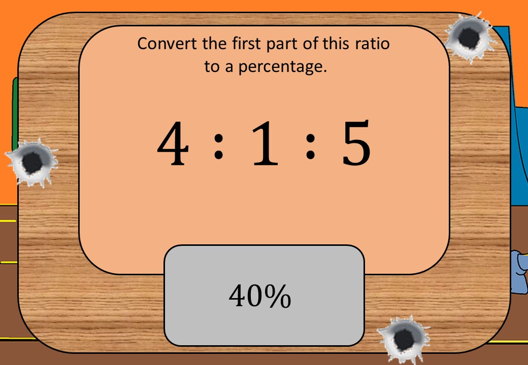 Equivalence - Fractions, Percentages & Ratios - Shootout