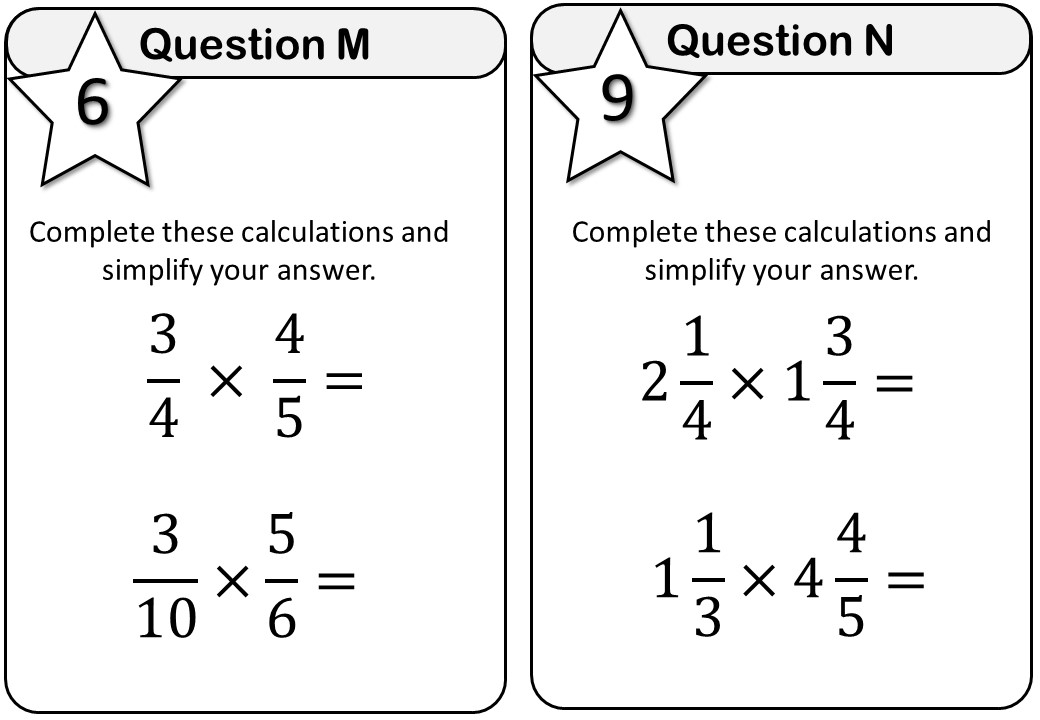Fractions - Mixed Revision - Messenger