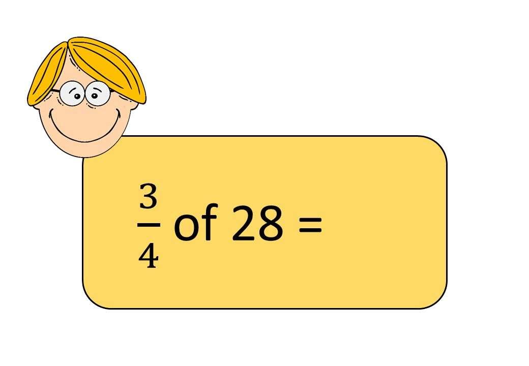 Fractions of Quantities - Bingo OA