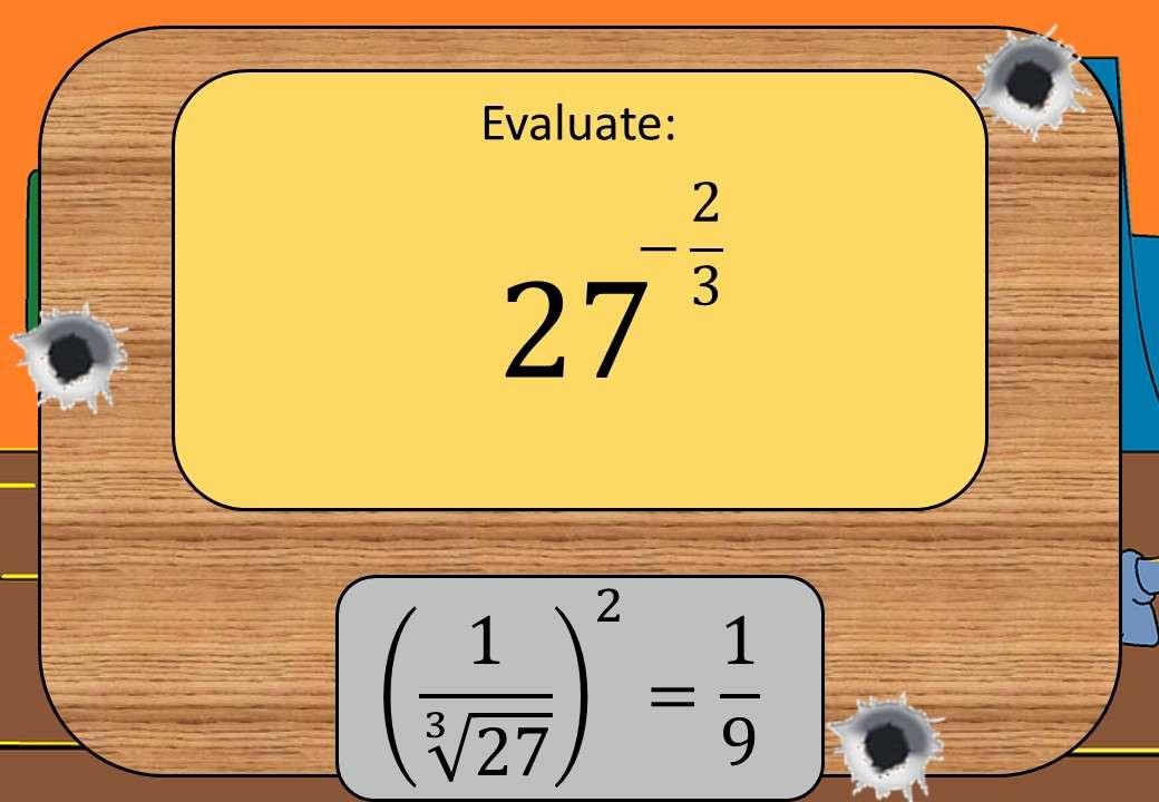 Indices - Negative Fractional - Shootout
