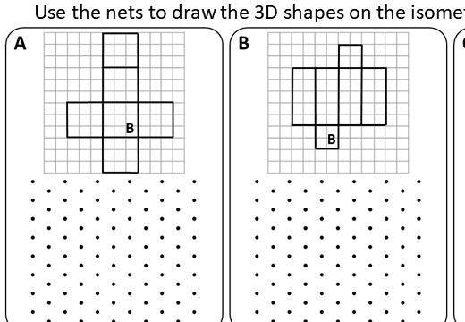 Isometric Grids - Worksheet A