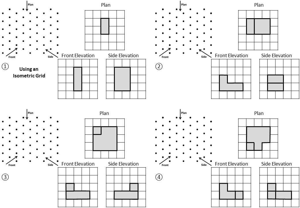 Isometric Grids - Worksheet C