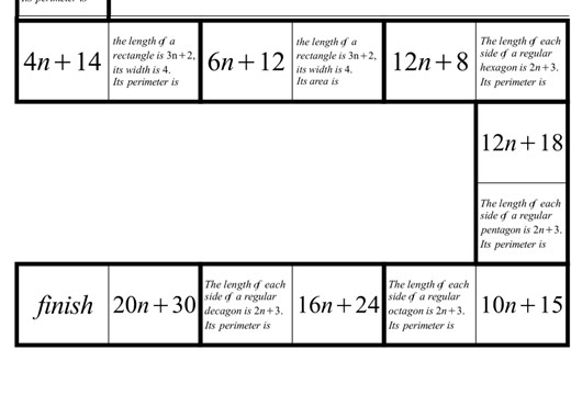 Linear Expressions - Forming - Tarsia
