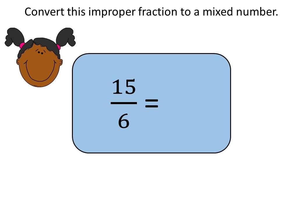 Mixed Numbers & Improper Fractions - Converting - Bingo OA
