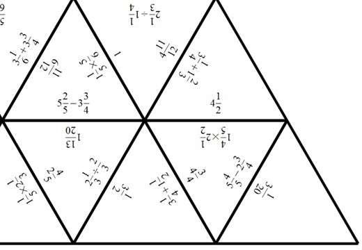 Mixed Numbers - Mixed - Tarsia