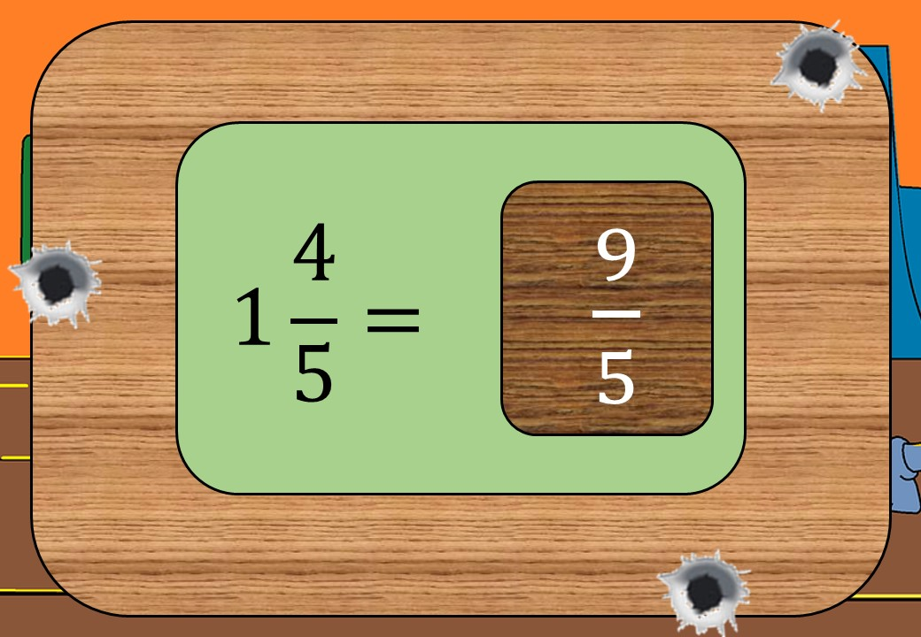 Mixed Numbers to Improper Fractions - Shootout