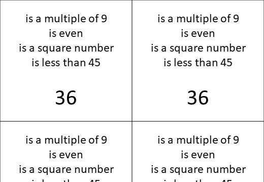 Primes, Factors & Multiples - Guess