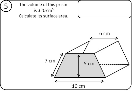Prism - Volume & Surface Area – Relay Race