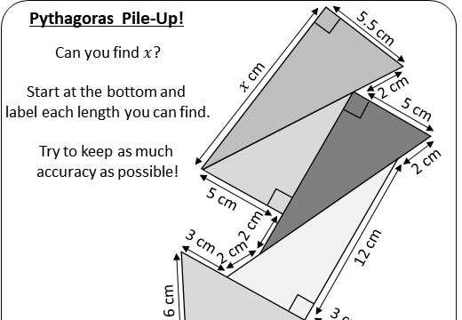 Pythagoras - Finding ABC - Worksheet A (1)