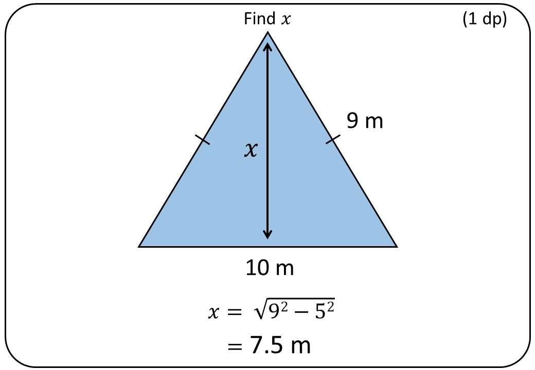 Pythagoras - Isosceles Triangles - Bingo M
