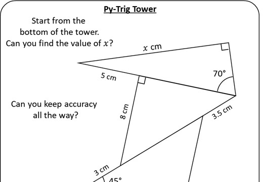 Pythagoras & Trigonometry - Worksheet A