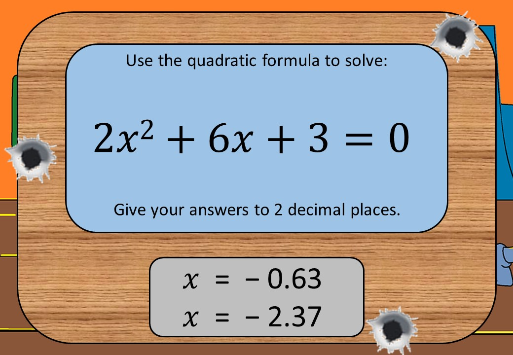 Quadratic Equations - Formula - Shootout