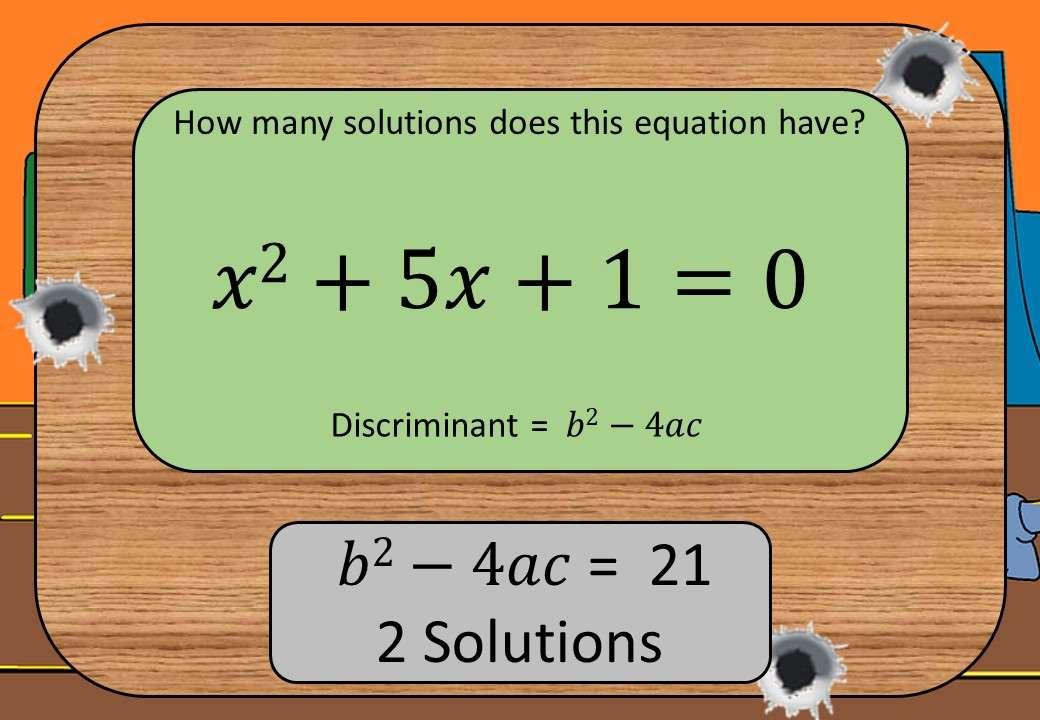 Quadratic Equations - No Solutions - Shootout
