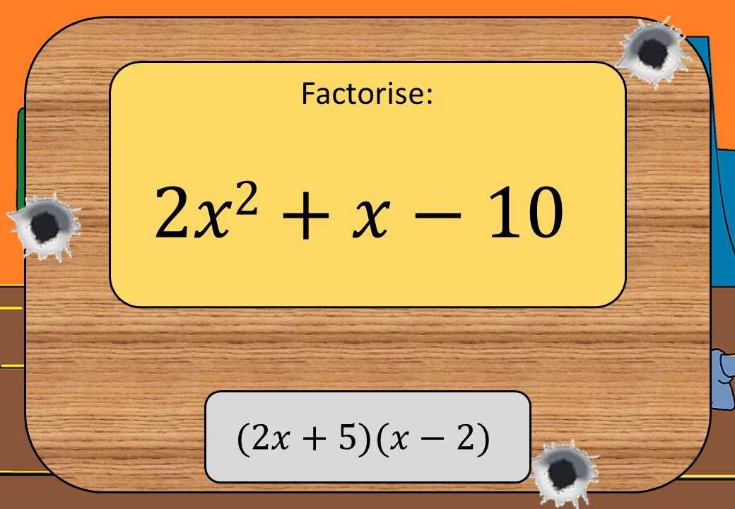 Quadratic Factorisation - With Coefficients – Shootout