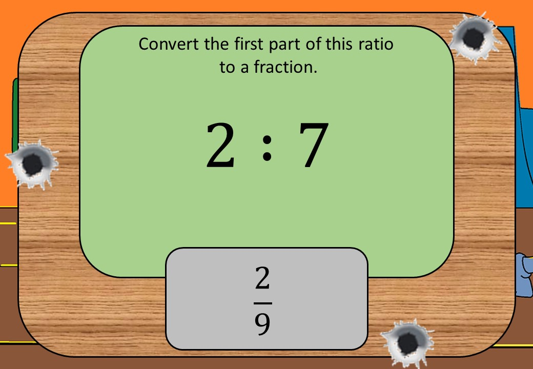 Ratios to Fractions - Shootout