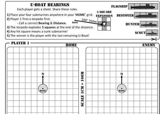 Scale Drawings & Bearings - Worksheet B