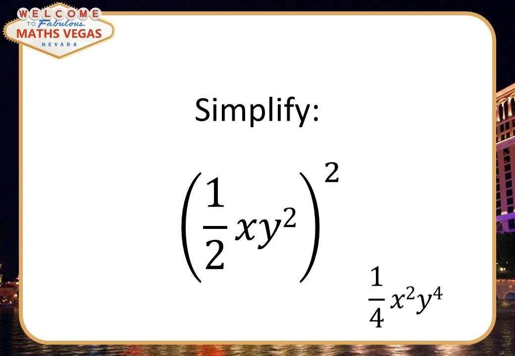 Simplifying Expressions - Maths Vegas