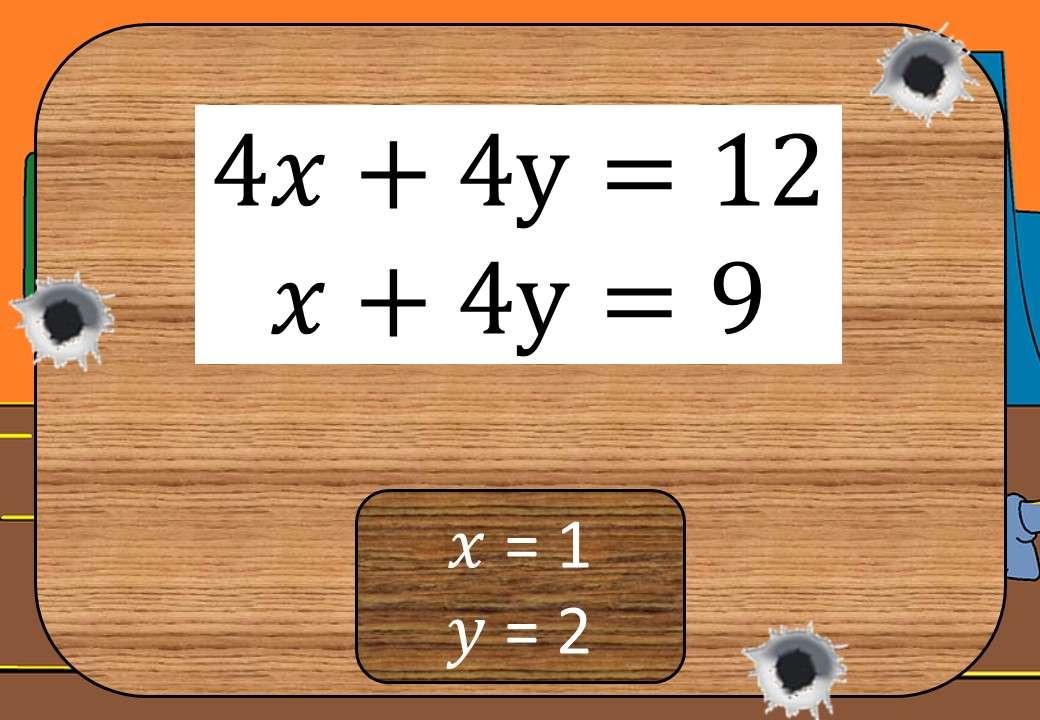 Simultaneous Equations - Elimination – Shootout