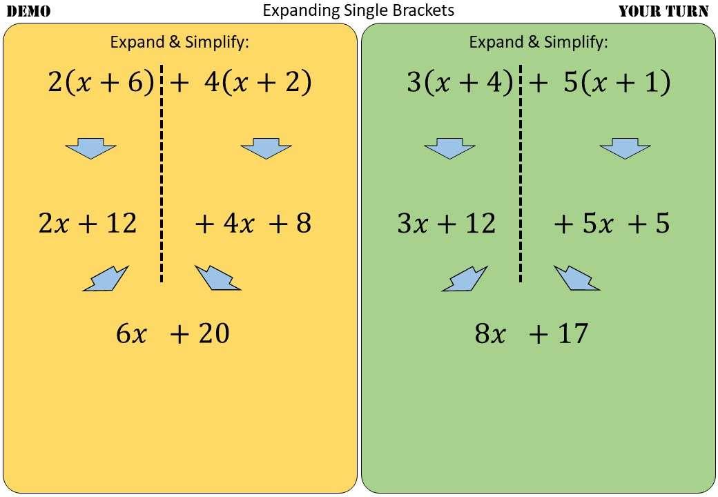 Single Brackets - Expanding - Multiple - Demonstration
