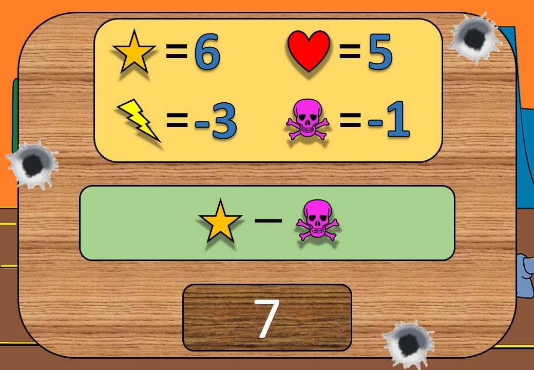 Substitution - Symbols - Negative - Shootout