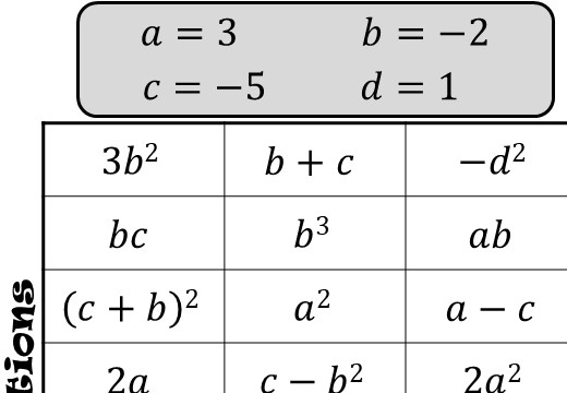 Substitution - With Indices - Four in a Row