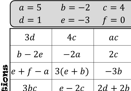 Substitution - Without Indices - Four in a Row
