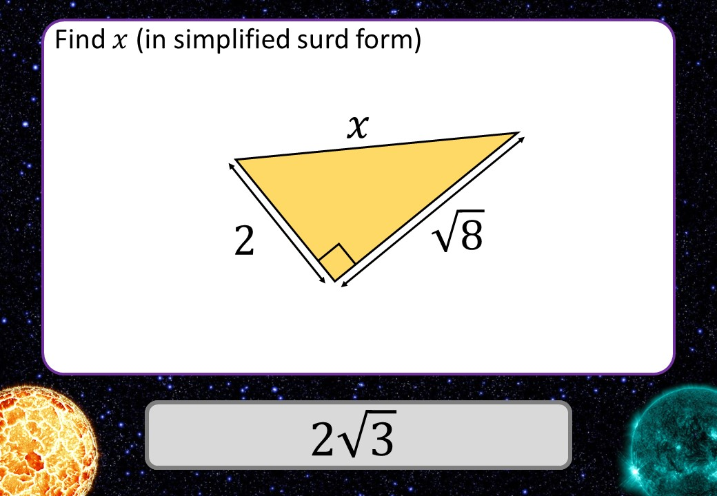 Surd Rules - With Pythagoras - 3 Stars