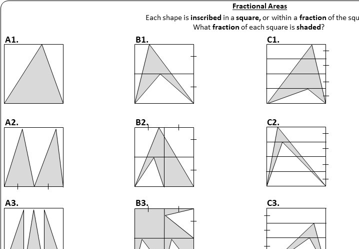 Triangle - Area - Worksheet A
