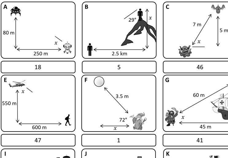 Trigonometry - Elevation & Depression - Card Match