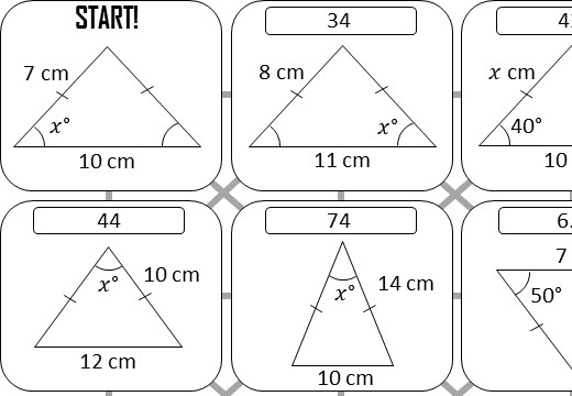 Trigonometry - Isosceles Triangles - Answer Maze