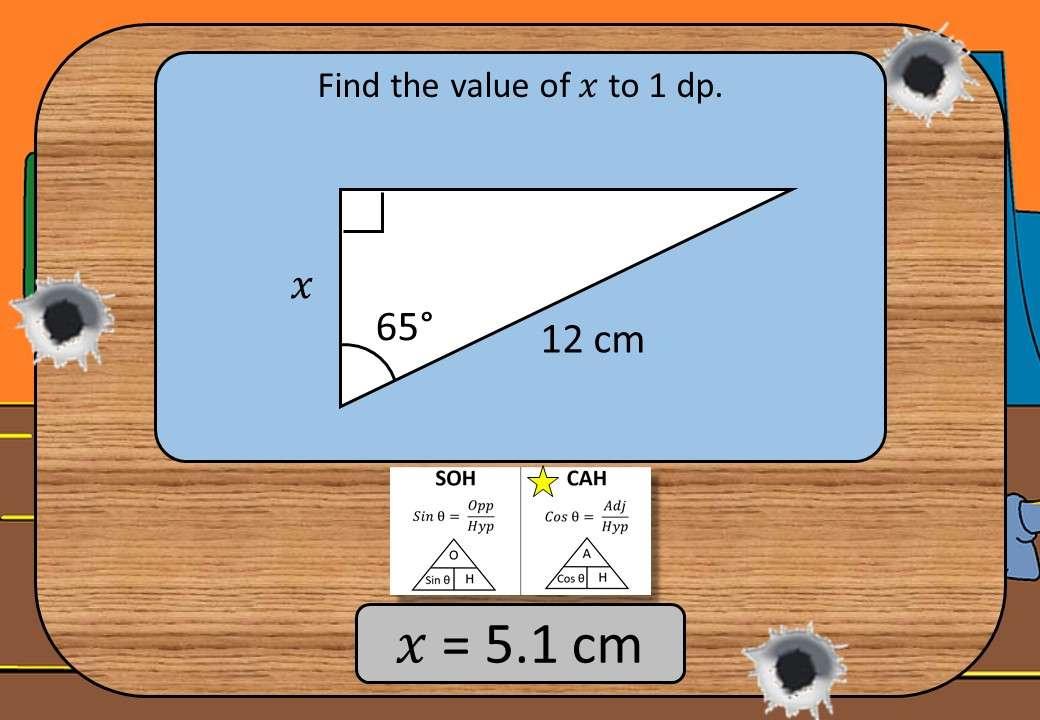 Trigonometry - Sine & Cosine - Lengths - Shootout