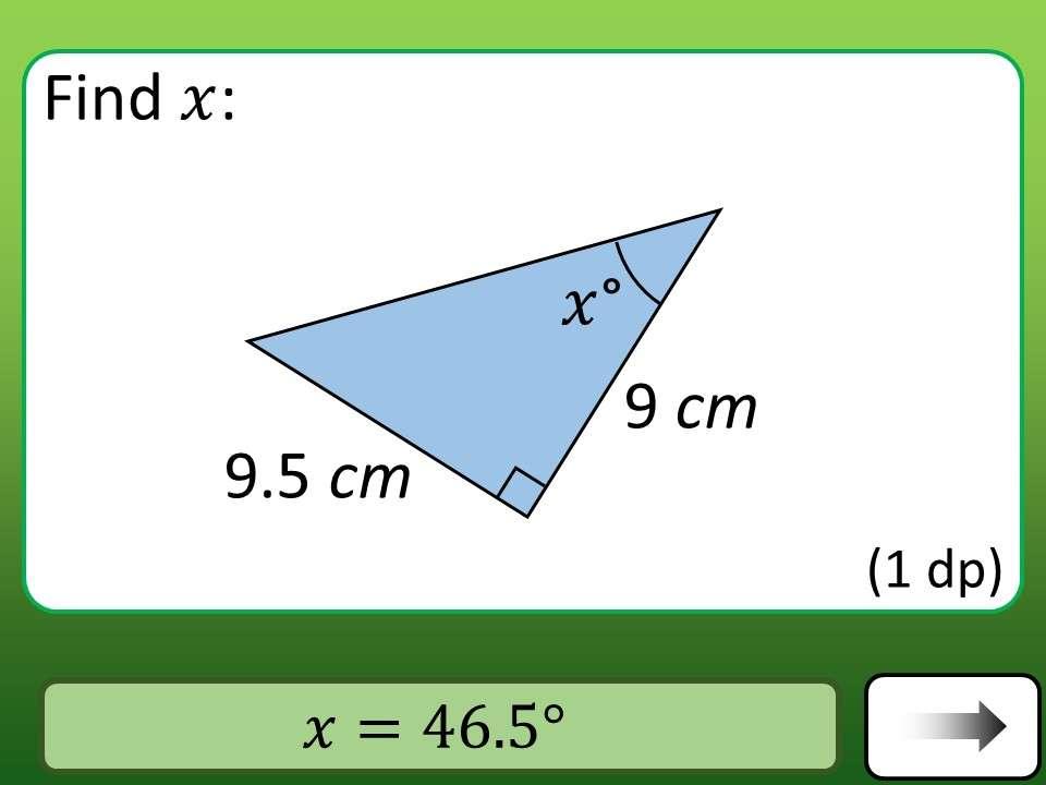 Trigonometry - Tangent - Angles - Car Race
