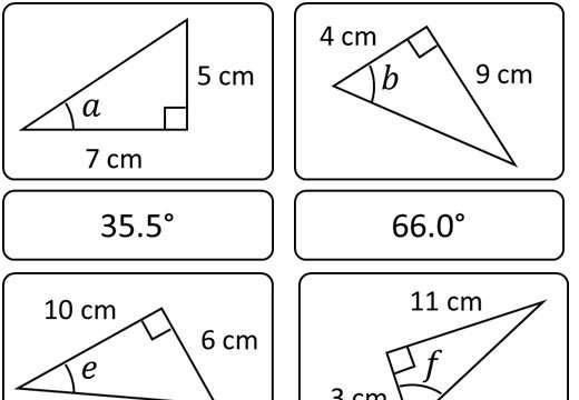 Trigonometry - Tangent - Angles - Card Match